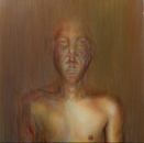 Abraham Brewster, Finding, Iteration 1. 2004. Oil on canvas.