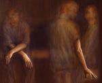 Abraham Brewster, Wait, 2005. Oil on canvas. 65 x 51 inches. Detail