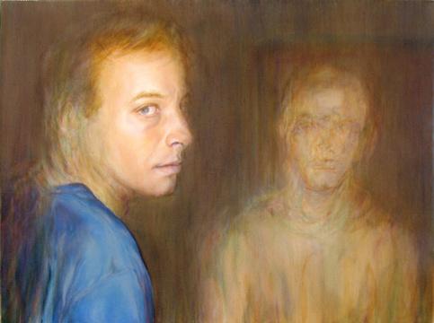 Abraham Brewster, Merge, 2005. Oil on canvas
