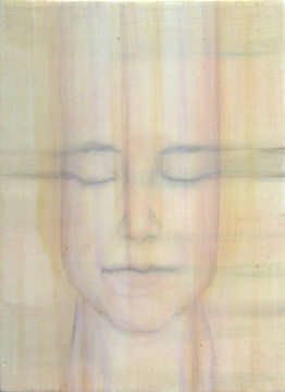Abraham Brewster, Study of a female head, 2005. Oil on Panel.