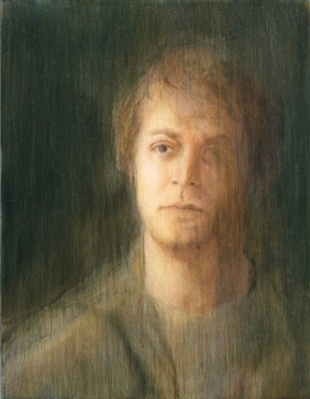 Abraham Brewster, Study of a Head, 2005. Oil on canvas, 18 x 14 inches