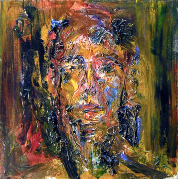 Abraham Brewster, Two Studies of Heads (1) 2005. Oil on Canvas