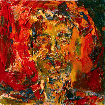 Abraham Brewster, Two Studies of Heads (2) 2005. Oil on Canvas