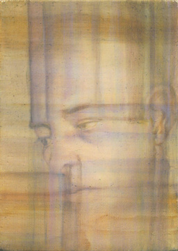 Abraham Brewster, Study of a Head, 2005. Oil on canvas. 7 x 5 inches