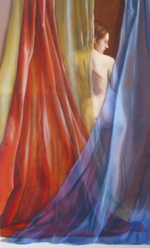 Abraham Brewster, Red, Yellow, Blue, 2005. Oil on canvas. 60 x 36 inches