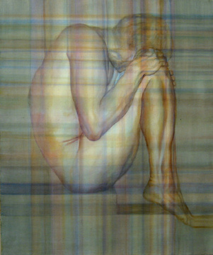 Abraham Brewster, Study of a Seated Figure, 2005. Oil on linen. 24 x 20 inches