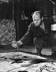 Jackson Pollock painting at AbrahamBrewster.com