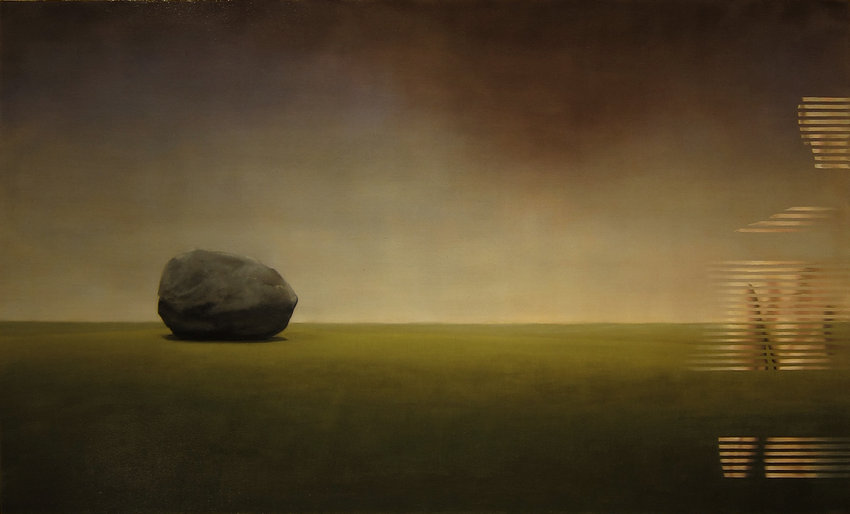 Abraham Brewster Erratic - Phase Oil on Canvas