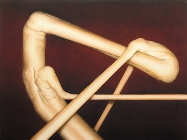 Abraham Brewster, Balance, 2006. Oil on canvas, 40 x 30 inches