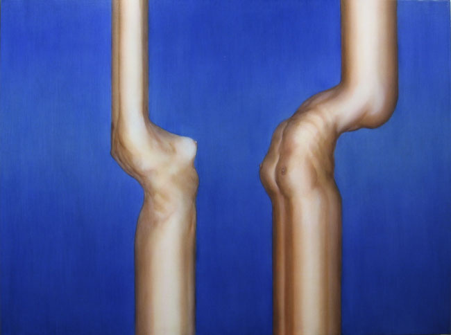 Abraham Brewster, Zig Zag, 2006. Oil on canvas.