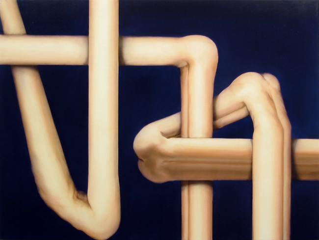 Abraham Brewster, Knot, 2006. Oil on canvas, 40 x 30 inches