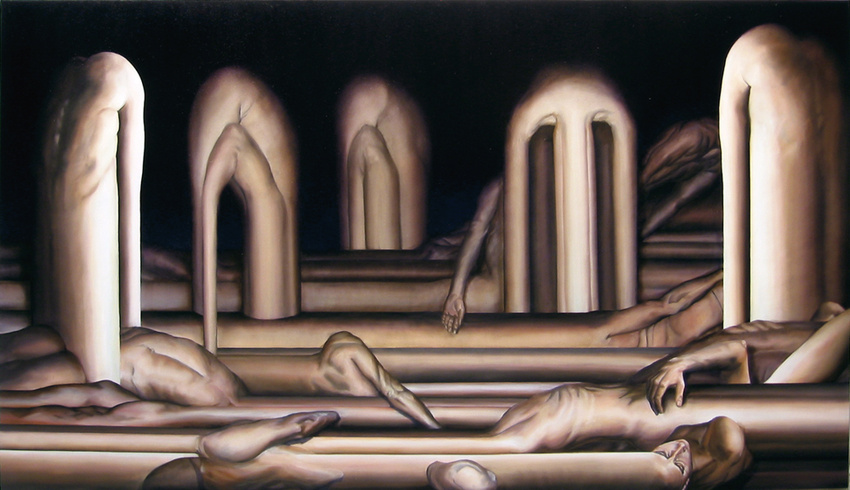 Abraham Brewster, Ruin, 2006-2007. Oil on Canvas