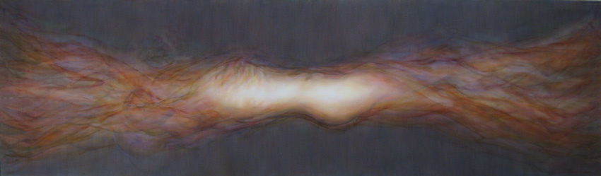 Abraham Brewster, Sum, 2004. Oil on canvas, 28 x 96 inches
