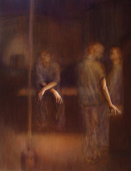Abraham Brewster, Wait, 2005. Oil on canvas. 65 x 51 inches.