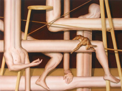Abraham Brewster, Say It Aint So, 2006. Oil on Canvas